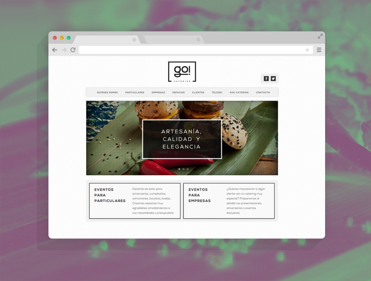 Go Catering web 2