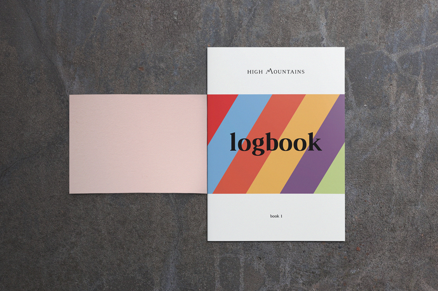 HMR Logbook cover opened