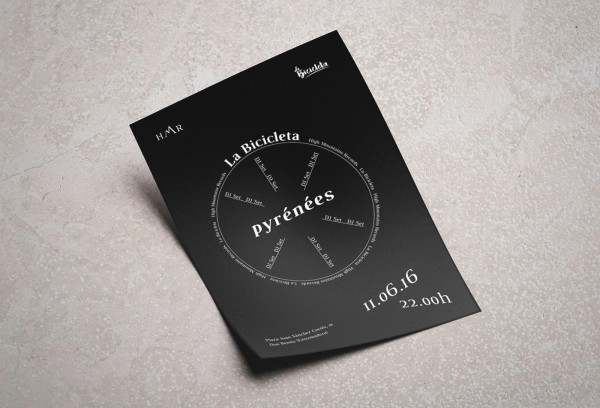 Pyrenees Poster Design La bicicleta 3