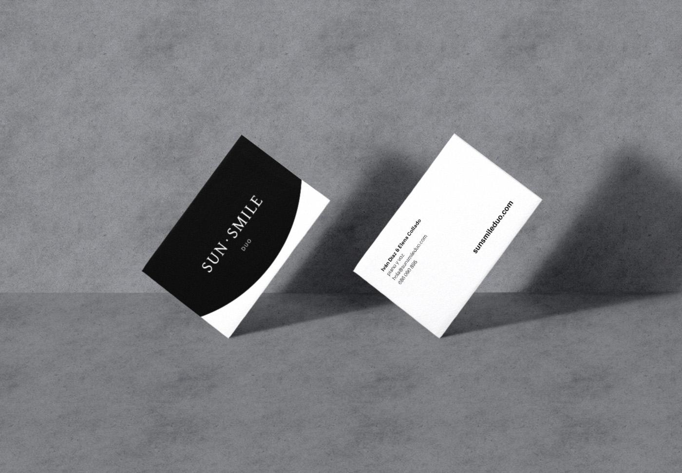 SunSmile identidad corporativa diseño de tarjetas