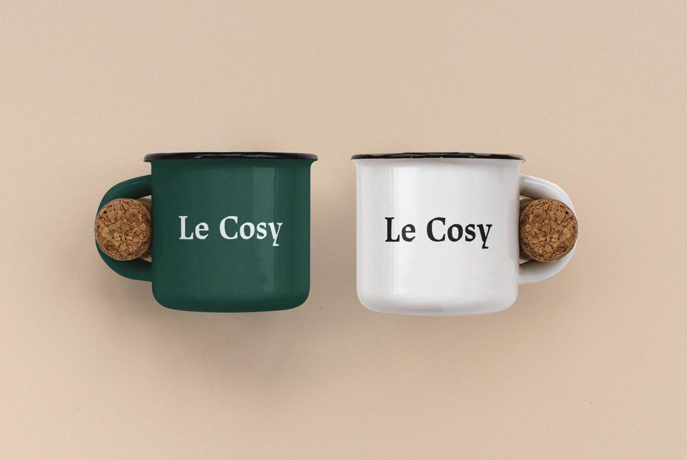 Le Cosy Bar Identidad corporativa diseño taza