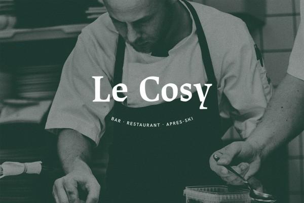Le Cosy Bar Identidad corporativa logo restaurante