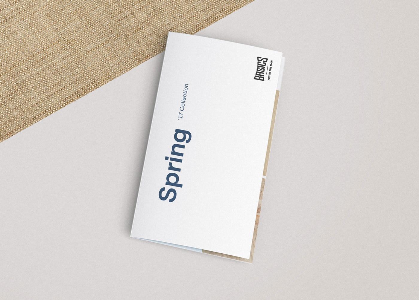 Basics diseño catálogo desplegable primavera 1