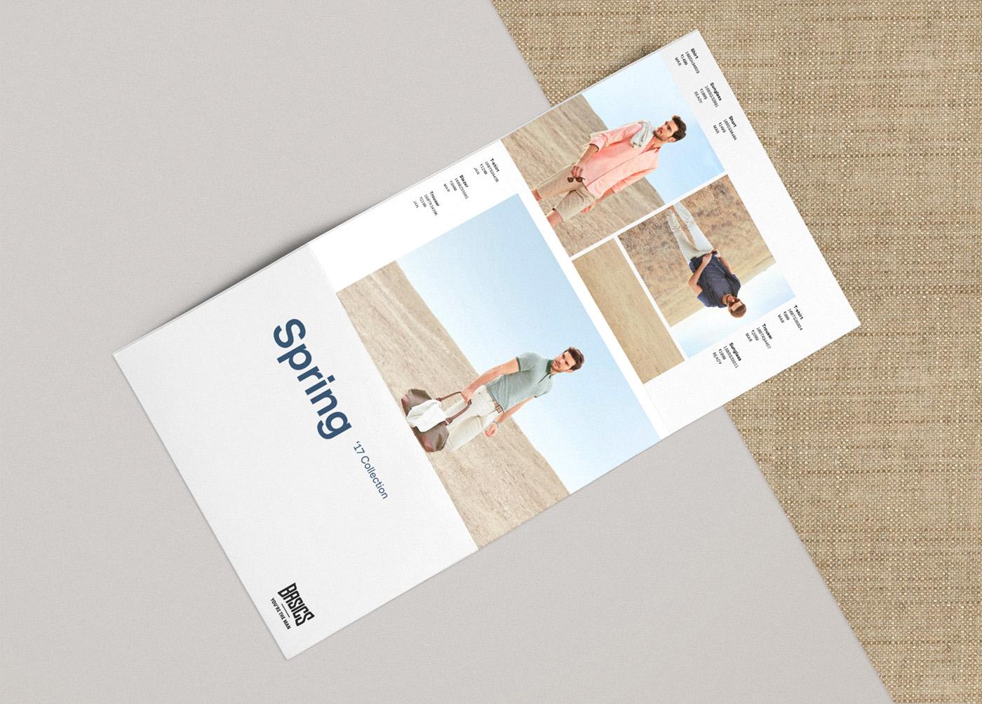 Basics diseño catálogo desplegable primavera 2