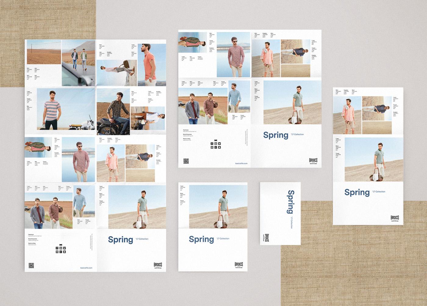 Basics diseño catálogo desplegable primavera 3