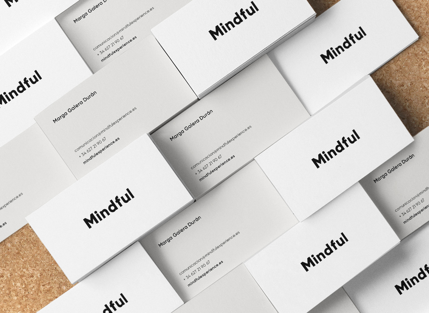 Mindful Business cards corporate identity logo design