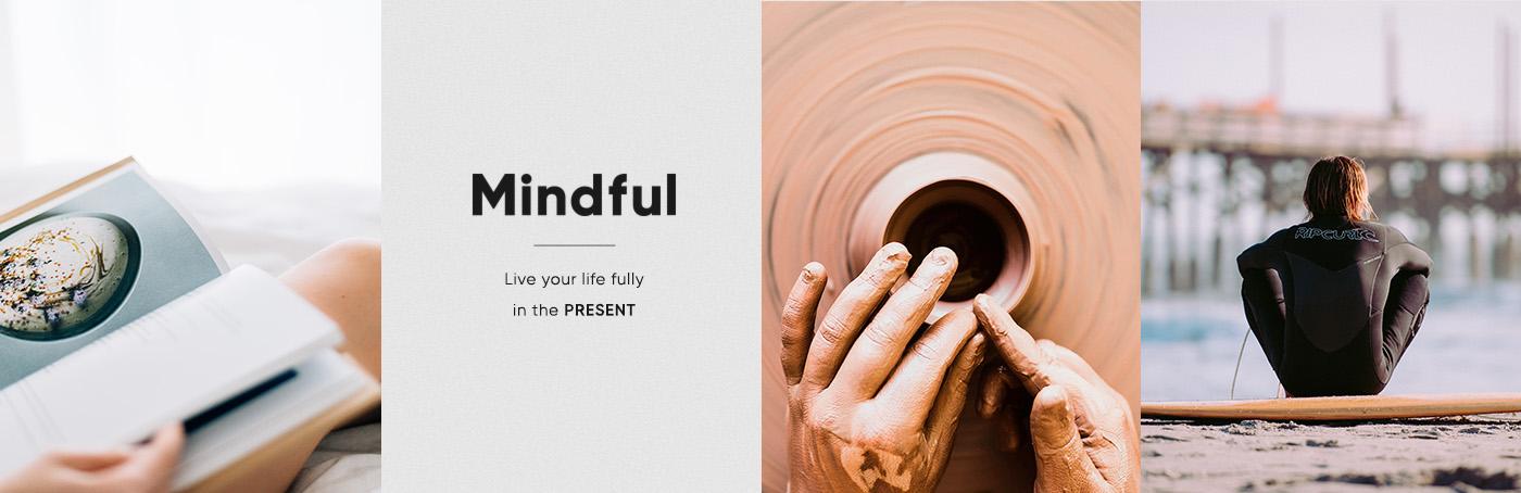 Mindful identity moodboard logo design