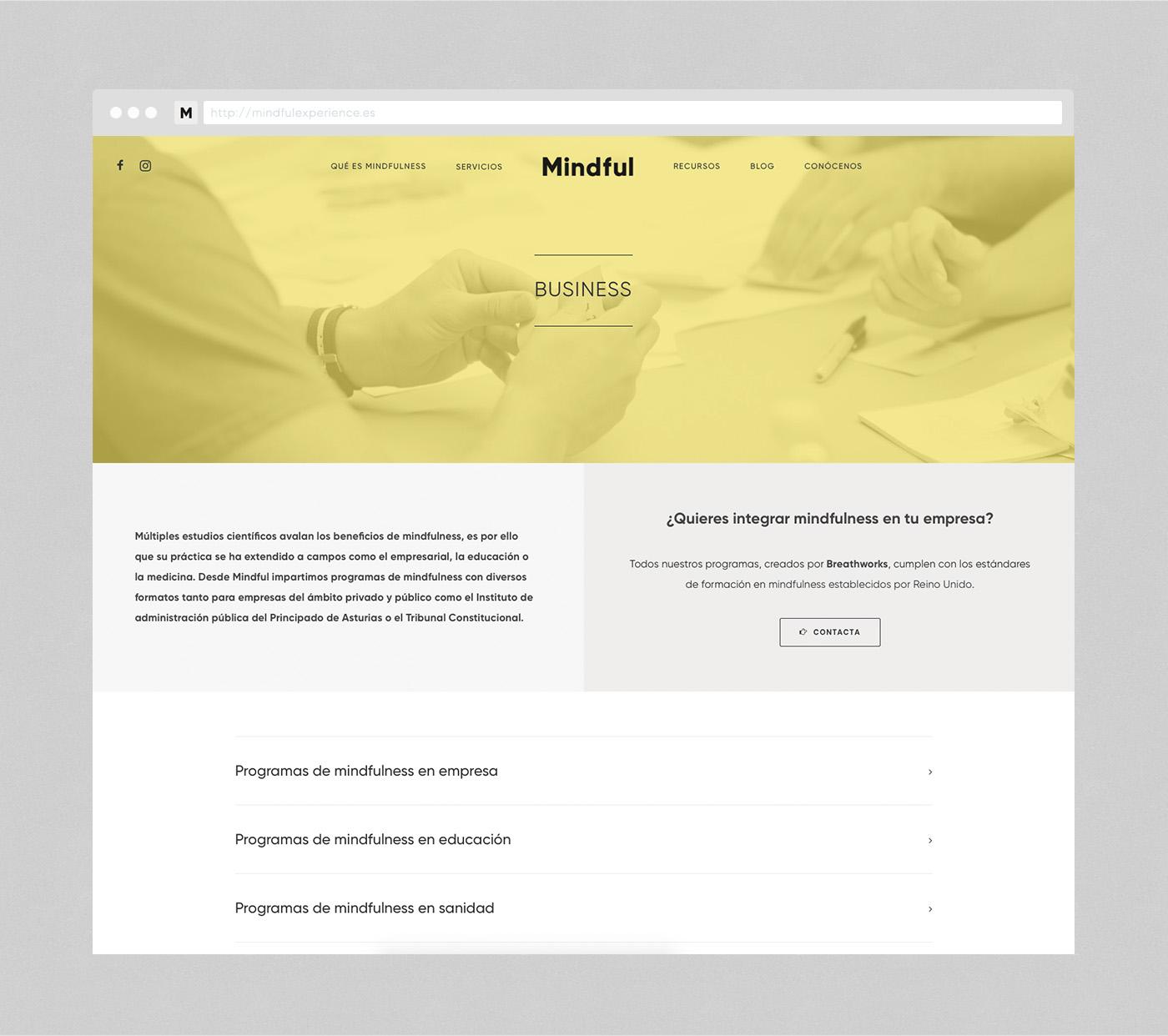 Mindful web design Business