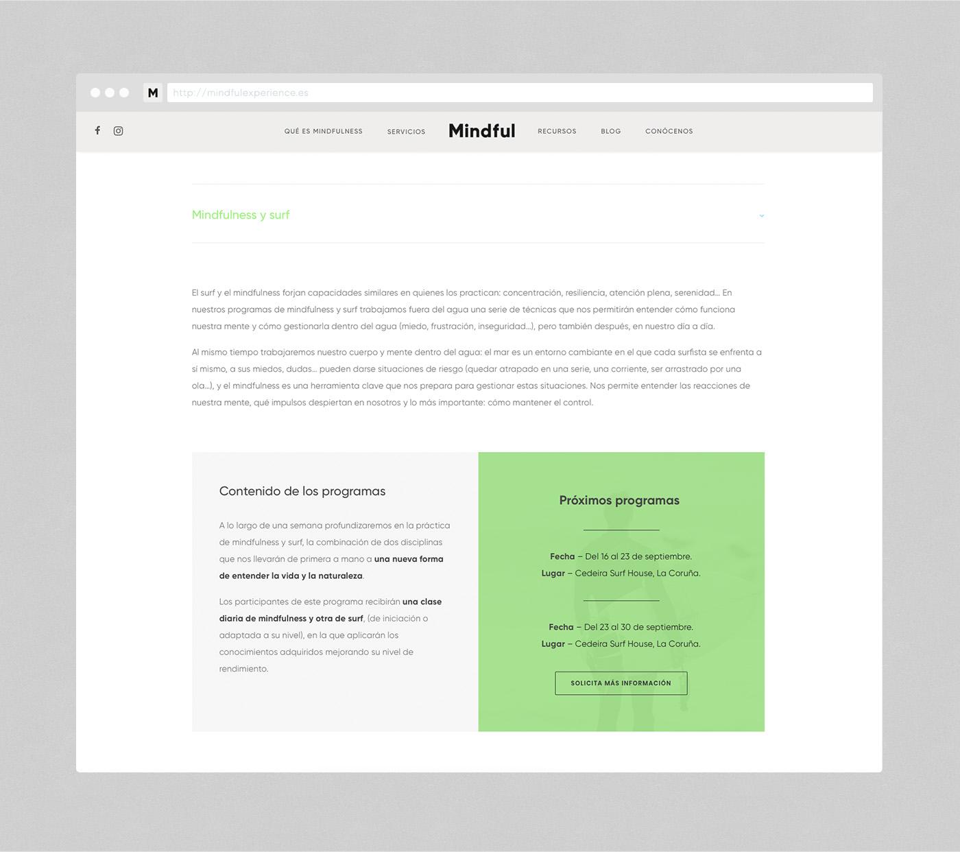 Mindful web design Servicios Experience