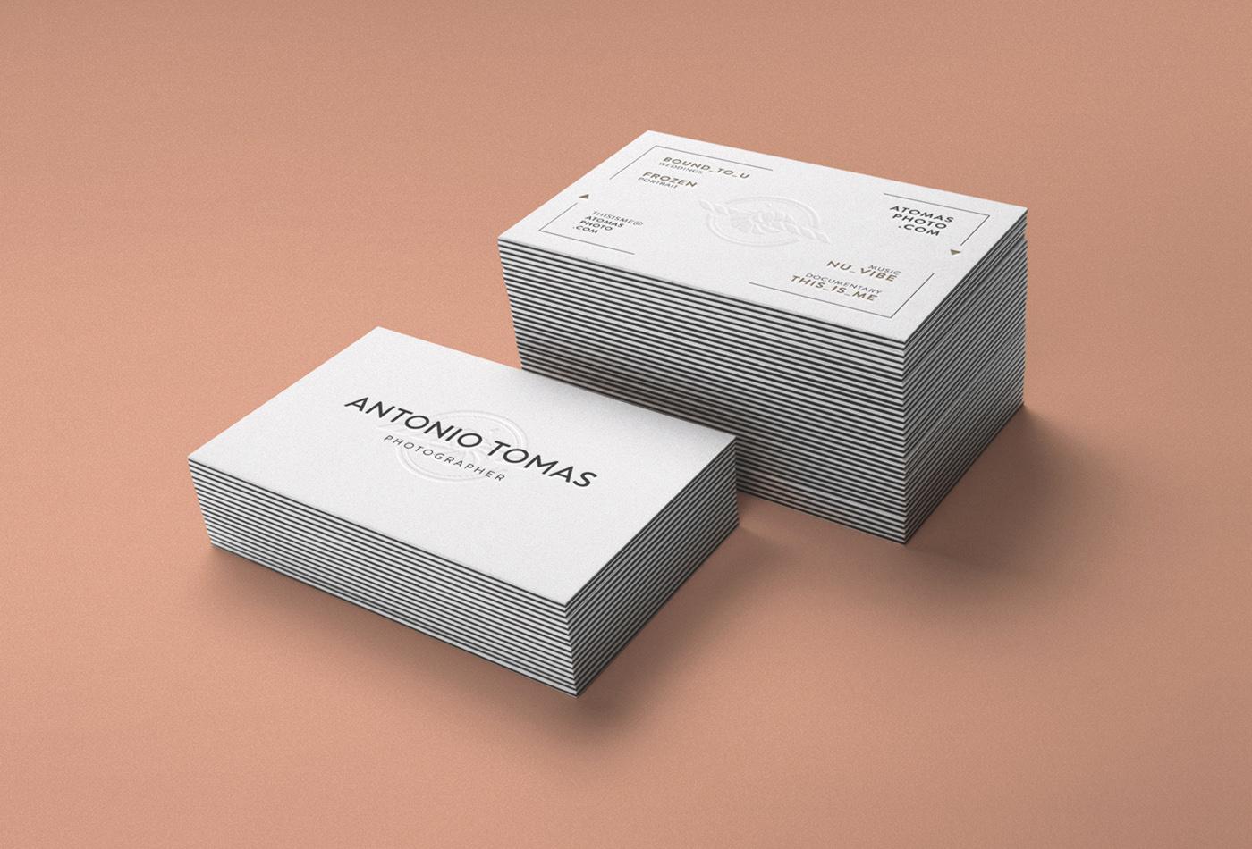 Antonio Tomas Tarjeta letterpress