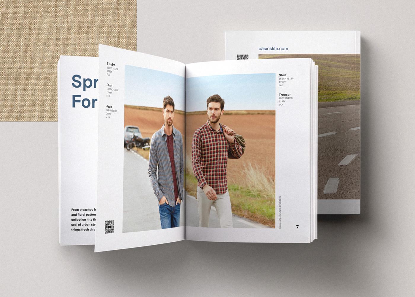 Basics spring catalog editorial design 1