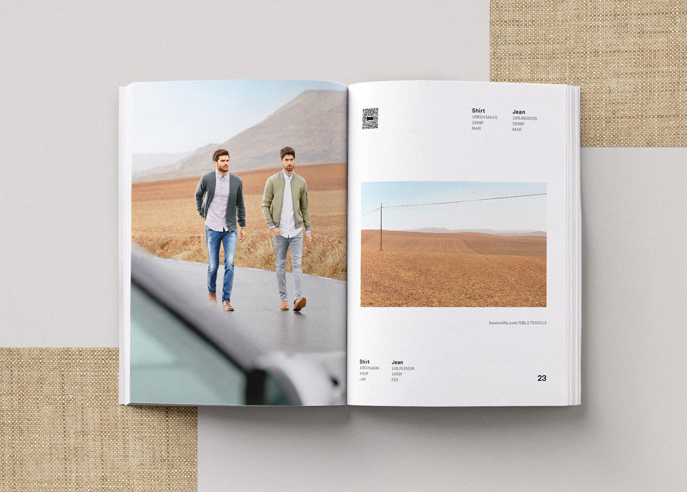 Basics spring catalog editorial design 2