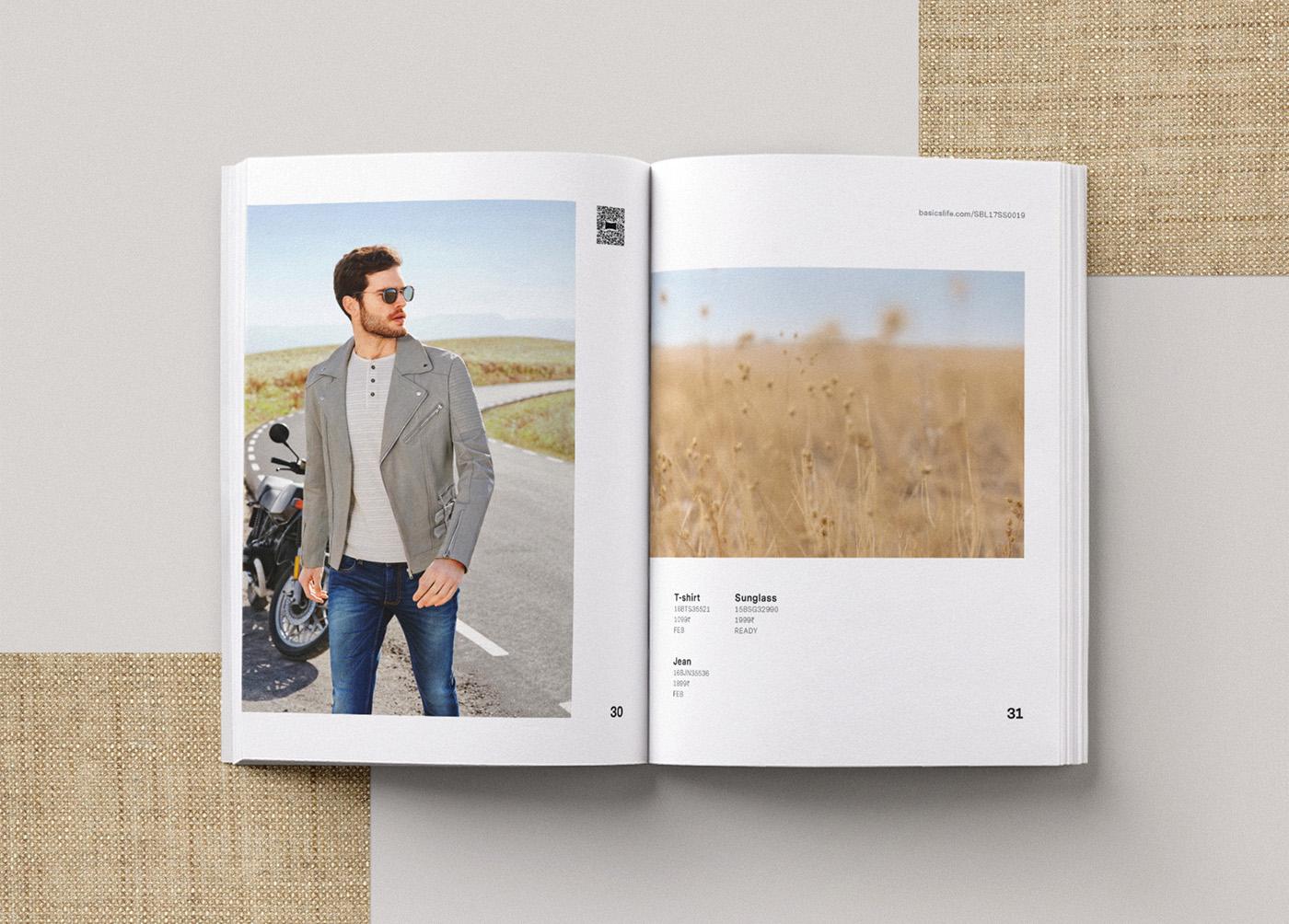 Basics spring catalog editorial design 4